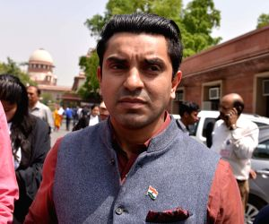 : New Delhi: Congress leader and one of the petitioners Tehseen Poonawala outside the Supreme Court after the apex court, dismissed petition seeking SIT probe into the death of Judge Loya who was ...