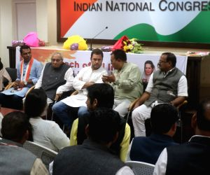 :New Delhi: Congress Vice President Rahul Gandhi during a party meeting at the All India Congress Committee (AICC) office in New Delhi on Nov 16, 2017. (Photo: IANS).