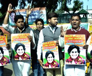 Congress workers demand Priyanka Gandhi to take the leadership of the party