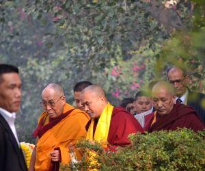 Dalai Lama visits Buddha Jayanti Park on Gaden Ngachoe