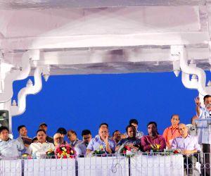 Kejriwal during a meeting with sanitation workers at Ramlila Maida