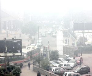 Dense fog covers New Delhi