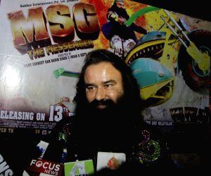 Ram Rahim Singh promotes his upcoming film 'MSG - The Messenger of God'