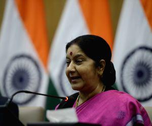 Sushma Swaraj's press conference