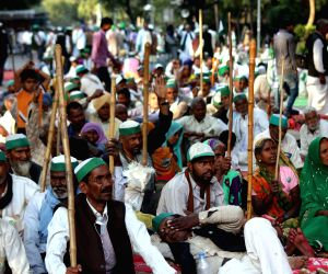 Farmers' demonstration against land acquisition bill
