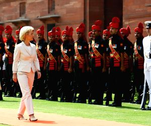 German Defence Minister inspects the guard of honour