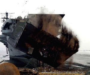 INS Vikrant being broken up