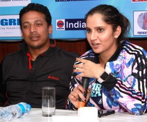 Press conference - Mahesh Bhupathi, Sania Mirza