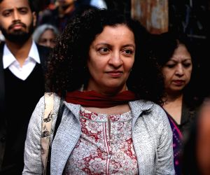 New Delhi: Journalist Priya Ramani, who appeared before a Delhi court in pursuance of summons issued against her in the defamation case filed by former Union Minister M.J. Akbar after she named him in a case of misconduct; in New Delhi. (Photo: IANS)