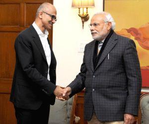 Satya Nadella calls on the PM Modi