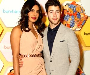 :New Delhi: Newlyweds Priyanka Chopra and Nick Jonas during the launch party of her new project dating app Bumble in New Delhi on Dec 5, 2018. .