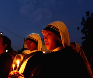 Candlelight vigil against gang rape of a nun in West Bengal, attack on Haryana church