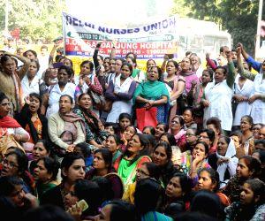 Nurses' demonstration against health policies