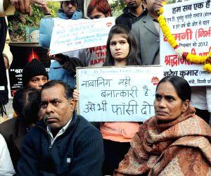 Parents of Nirbhaya demonstrate against crime against women