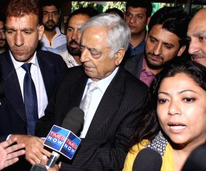 PDP patron Mufti Mohammed Sayeed addressing media
