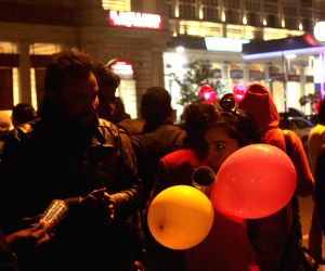 New year celebrations at Connaught Place