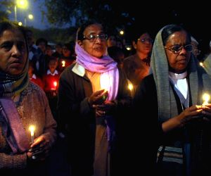 Candlelight vigil against gang rape of a nun in West Bengal