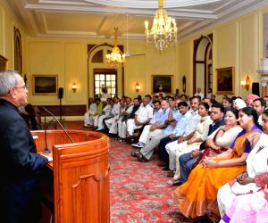 AAP legislators call on President Mukherjee
