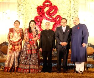 Wedding receptions of Amit Shah's son - PM Modi and President Pranab Mukherjee