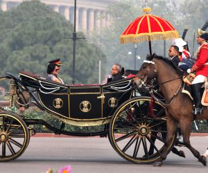 President Mukherjee after joint session of Parliament