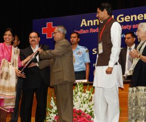 President Mukherjee during AGM of IRCS and St. John Ambulance (India)
