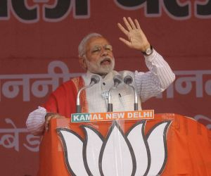 PM Modi during an election rally