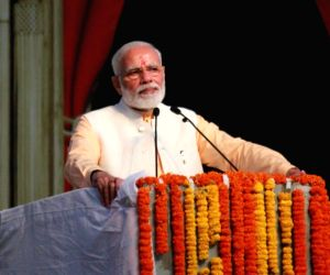 Modi attends Dussehra event, calls for saving water, energy