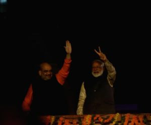 Celebrations in Delhi as BJP heads for clean sweep