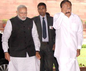 BJP parliamentary party meeting - Modi, Naidu