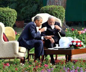 Chai pe charcha' at Hyderabad House - Modi-Obama