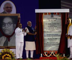 Foundation Stone laying ceremony of Dr. Ambedkar International Centre