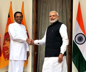 PM Modi and Sri Lanka President at Hyderabad House