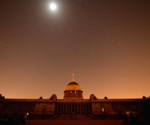 Rashtrapati Bhavan during Earth Hour