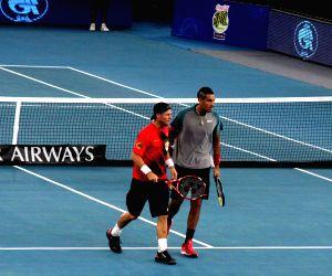 IPTL - Lleyton Hewitt and Nick Kyrgios v/s Marin Cilic and Nenad Zimonjic