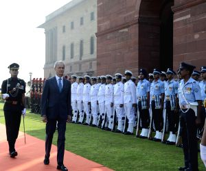 Spanish Defence Minister at South Block