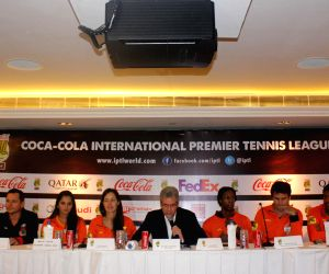 International Premier Tennis League - press conference