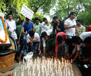 Students pay tribute to Bharat Singh