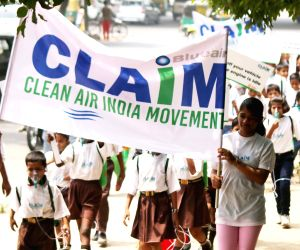 Students participate in Clean Air India Movement
