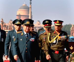 Kazakhstan Armed Forces chief visits South Block