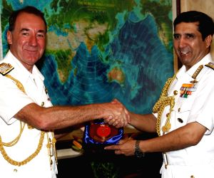 First Sea Lord Sir George Zambellas visits India