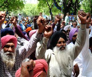 Punjab Pradesh Palledar Mazdoor Union's demonstration
