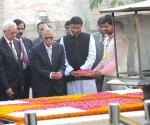 Bangladesh President visits  Rajghat