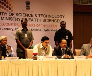 Harsh Vardhan addresses a press conference