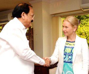 Venkaiah Naidu meets Swedish Minister