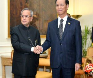 New Delhi: Myanmar Vice President calls on President Mukherjee