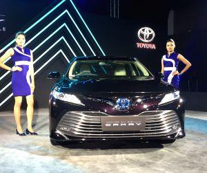 New Delhi: Toyota launches new Camry hybrid in New Delhi, on Jan 18, 2019. (Photo: IANS)