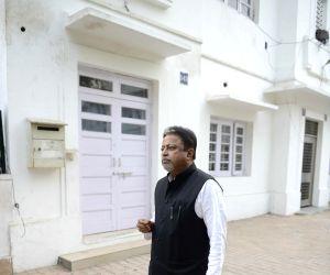 Mukul Roy outside his Delhi residence