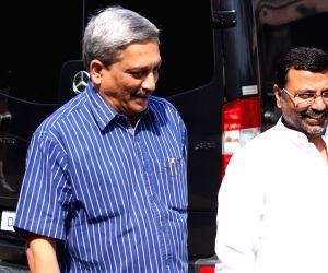 Union Defence Minister Manohar Parrikar at the Parliament in New Delhi, on March 17, 2015.