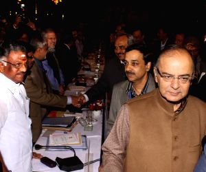 Arun Jaitley during a pre-budget meeting with the finance ministers from different states