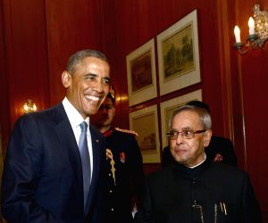 US President calls on President Mukherjee